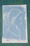 Blauwdruk portret meisje